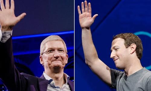 Apple's Tim Cook, and Facebook's Mark Zuckerberg.